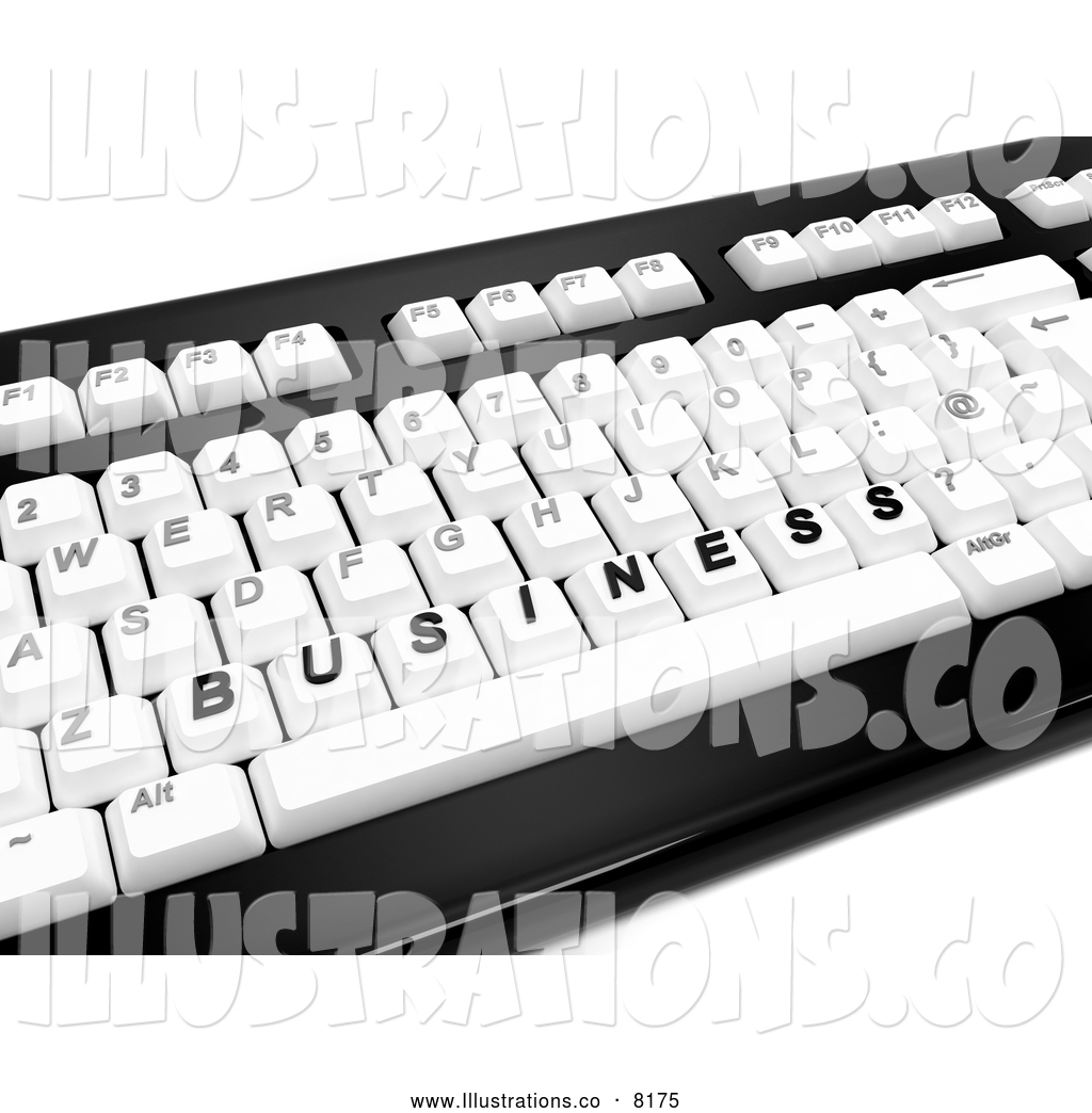 Royalty Free Stock Illustration of a 3d Computer Keyboard and BUSINESS ...