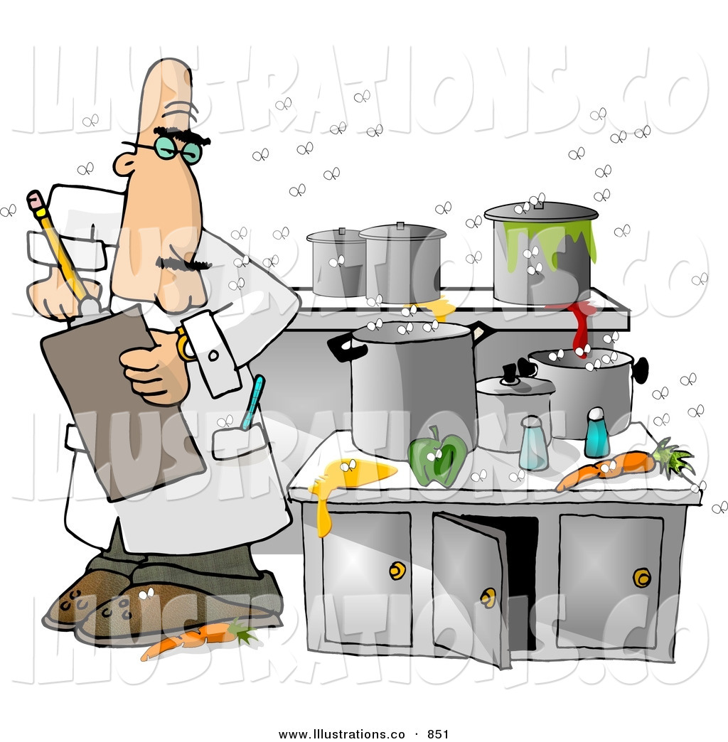 Messy Kitchen Catering: Royalty Free Stock Illustration Of A Food Health Inspector