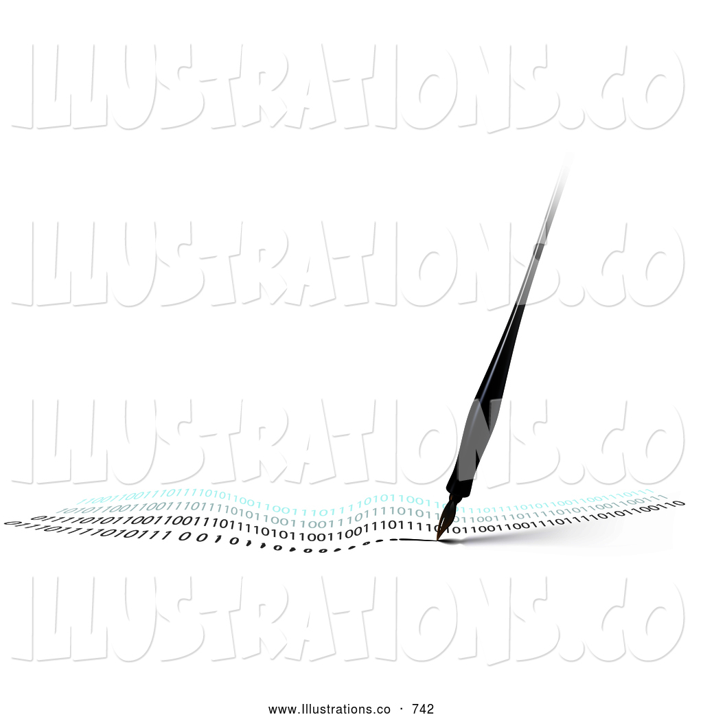 Royalty free stock illustration of a simple old fashioned Easy calligraphy pen