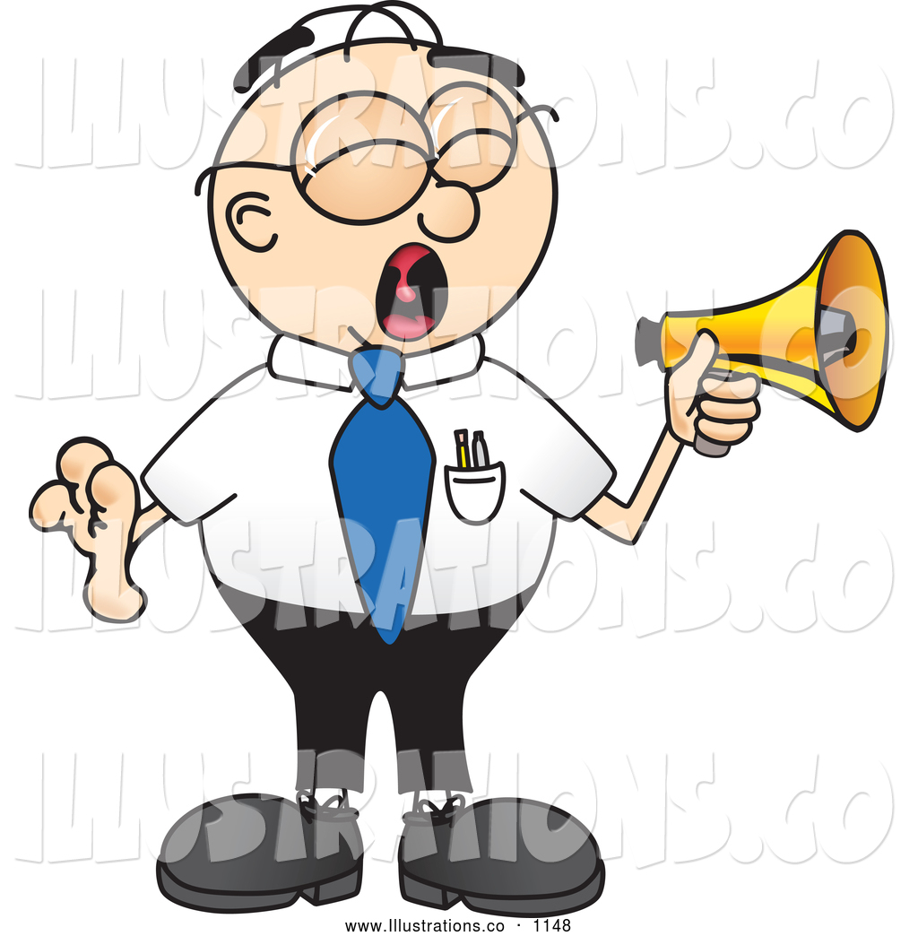 Larger Preview: Royalty Free Stock Illustration of a Yelling Loud Male