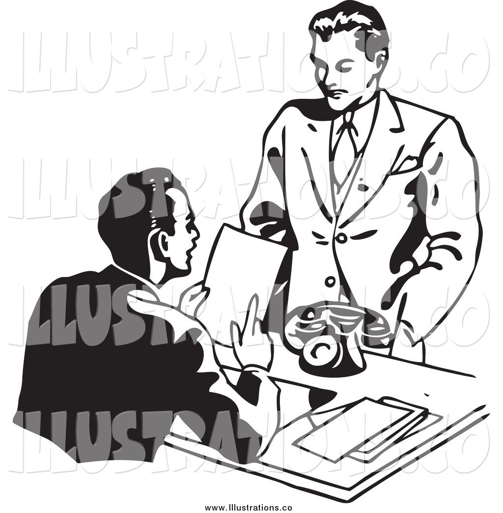 Royalty Free Stock Illustration Of Black And White Businessman