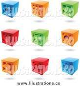 Royalty Free Stock Illustration of 3d Colorful Bricks by Cidepix