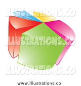 Royalty Free Stock Illustration of a 3d Colorful Pie Chart by MilsiArt