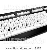 Royalty Free Stock Illustration of a 3d Computer Keyboard and BUSINESS on the Keys by