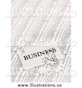 Royalty Free Stock Illustration of a 3d Incomplete Business Puzzle over Stock Charts by Stockillustrations