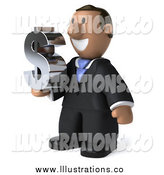Royalty Free Stock Illustration of a 3d Indian Business Man Holding a Dollar Symbol by Julos