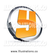 Royalty Free Stock Illustration of a 3d Letter Y in a Circle by Beboy