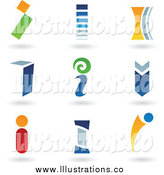 Royalty Free Stock Illustration of a Abstract Colorful Letter I Icons by Cidepix
