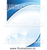 Royalty Free Stock Illustration of a Blue Background with a Bar Graph by TA Images