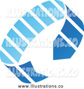 Royalty Free Stock Illustration of a Blue Circle Arrow Icon by Cidepix