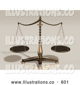 Royalty Free Stock Illustration of a Brass Scales Weighing out Evenly on Tan by Anastasiya Maksymenko
