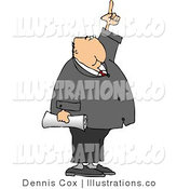 Royalty Free Stock Illustration of a Businessman Pointing Finger up to the Skyward by Djart