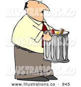 Royalty Free Stock Illustration of a Businessman Talking out Garbage by Djart