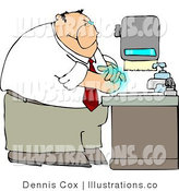 Royalty Free Stock Illustration of a Businessman Washing His Hands with Soap in the Office by Djart