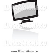 October 6th, 2014: Royalty Free Stock Illustration of a Computer Icon by Cidepix
