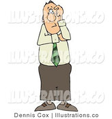 Royalty Free Stock Illustration of a Confused Businessman Thinking About Something by Djart