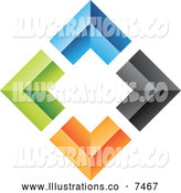 Royalty Free Stock Illustration of a Diamond of Colorful Walls by Cidepix