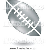 Royalty Free Stock Illustration of a Floating Silver American Football by Cidepix