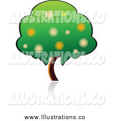 Royalty Free Stock Illustration of a Flowering Tree by Vector Tradition SM