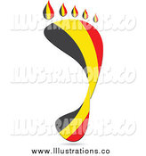 September 8th, 2014: Royalty Free Stock Illustration of a Footprint Belgium Flag by Andrei Marincas