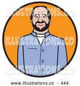 Royalty Free Stock Illustration of a Friendly Businessman in Business Casual Clothing by Andy Nortnik
