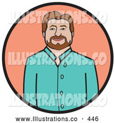 Royalty Free Stock Illustration of a Good Friendly Man in Business Casual Clothes by Andy Nortnik