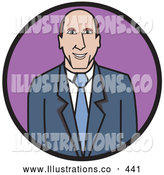 November 7th, 2013: Royalty Free Stock Illustration of a Good Friendly Professional Business Man in a Blue Suit and Tie by Andy Nortnik