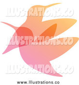 Royalty Free Stock Illustration of a Gradient Hummingbirds Overlay by Elena
