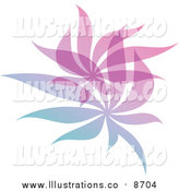 Royalty Free Stock Illustration of a Gradient Leaf Overlay Logo by Elena