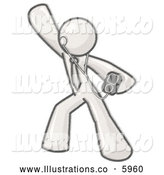 Royalty Free Stock Illustration of a Greyscale Sketched Design Mascot Man Dancing While Listening to Music with an Mp3 Player by Leo Blanchette