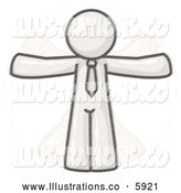 Royalty Free Stock Illustration of a Greyscale Sketched Design Mascot Vitruvian Man in Motion by Leo Blanchette