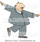 Royalty Free Stock Illustration of a Happy Businessman Doing a Dance by Djart