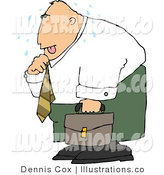 Royalty Free Stock Illustration of a Hot Business Person Loosening up the Tie Around His Neck by Djart