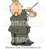 Royalty Free Stock Illustration of a Music Conductor Man Directing a Musical Performance with a Conducting Baton by Djart