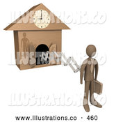 Royalty Free Stock Illustration of a New Work Day, or Punctuality, Cuckoo Clock by 3poD