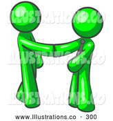 Royalty Free Stock Illustration of a Pair of Office People Shaking Hands, Business Deal by Leo Blanchette