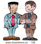 Royalty Free Stock Illustration of a Pair of Two Businessmen Shaking Hands by AtStockIllustration