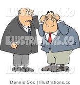Royalty Free Stock Illustration of a Pair of Upset Businessmen Thinking About Something by Djart