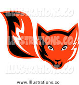 Royalty Free Stock Illustration of a Retro Red Fox by Patrimonio