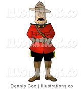 Royalty Free Stock Illustration of a Royal Canadian Mounted Police (RCMP) Officer on a White Background by Djart