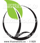 Royalty Free Stock Illustration of a Seedling Plant Circle by Elena