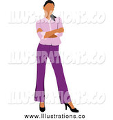 June 15th, 2014: Royalty Free Stock Illustration of a Successful Businesswoman in a Purple Suit by Leonid