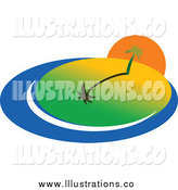 March 11th, 2014: Royalty Free Stock Illustration of a Sunset over an Island by Vector Tradition SM