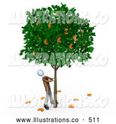 November 7th, 2013: Royalty Free Stock Illustration of a Tall Tree That Grows Euros by 3poD