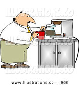 Royalty Free Stock Illustration of a White Businessman Getting a Cup of CoffeeWhite Businessman Getting a Cup of Coffee by Djart