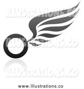 Royalty Free Stock Illustration of a Wing Design by Elena