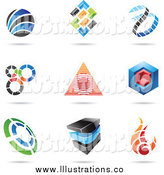 Royalty Free Stock Illustration of Abstract Designs with Shadows by Cidepix