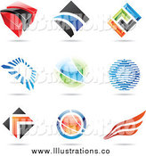 Royalty Free Stock Illustration of Abstract Logos by Cidepix