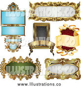Royalty Free Stock Illustration of Antique Ornate Frames by AtStockIllustration