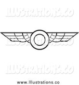Royalty Free Stock Illustration of Black and White Aviation Wings by Vector Tradition SM